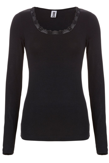 Ten Cate Women thermal lace shirt Black