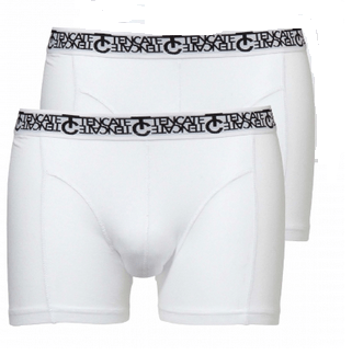 Ten Cate 2-pack Short 3209 Wit met zwarte letters in band