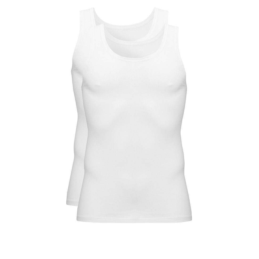 Ten Cate Basic Cotton Singlet 2-pack Wit