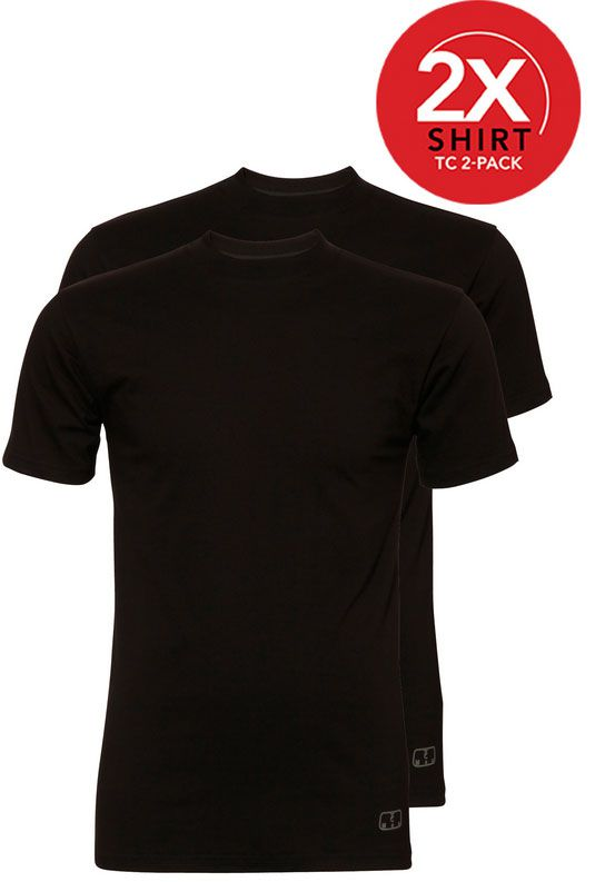 Ten Cate 2-Pack Basic T-shirts Ronde Hals Zwart-XXL