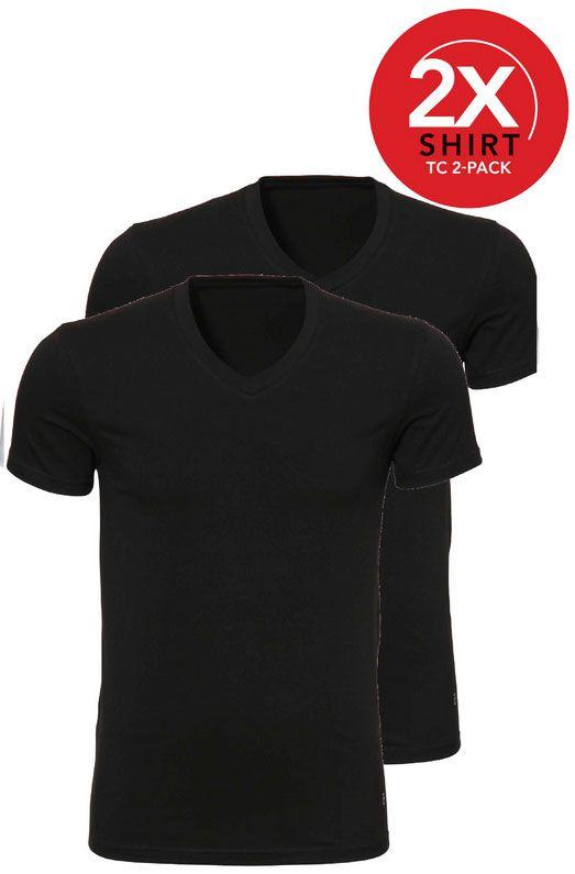 Ten Cate 2-Pack Basic T-shirts V-Hals Zwart