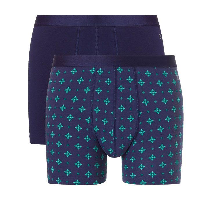 Ten Cate Heren Giftset Heren 2-pack shorts Blue Print