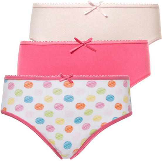 Ten Cate 3-pack Girls Brief Basic