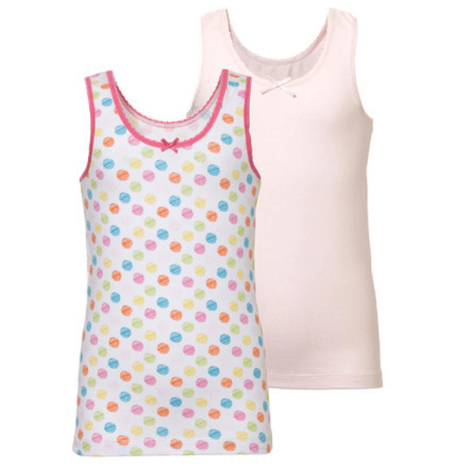 Ten Cate 2-pack Girls Singlet Basic-104