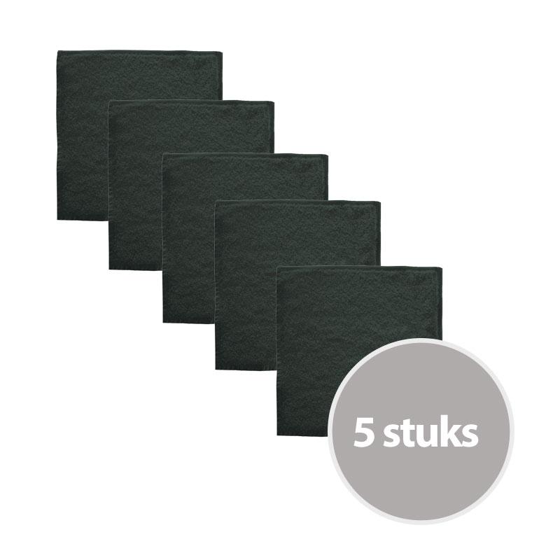 The One Gastendoek Voordeelpakket 450 gram 30x30 cm Antraciet (5 stuks)