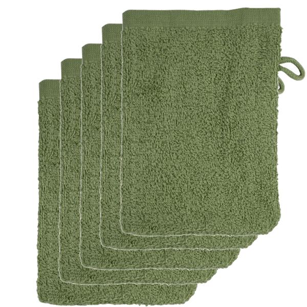 The One Voordeelpakket Washandjes Olive Green - 10 stuks