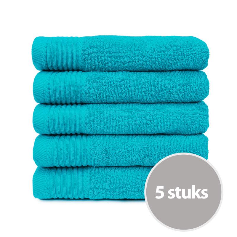 The One Handdoek 450 gram 50x100 cm Turquoise (5 stuks)