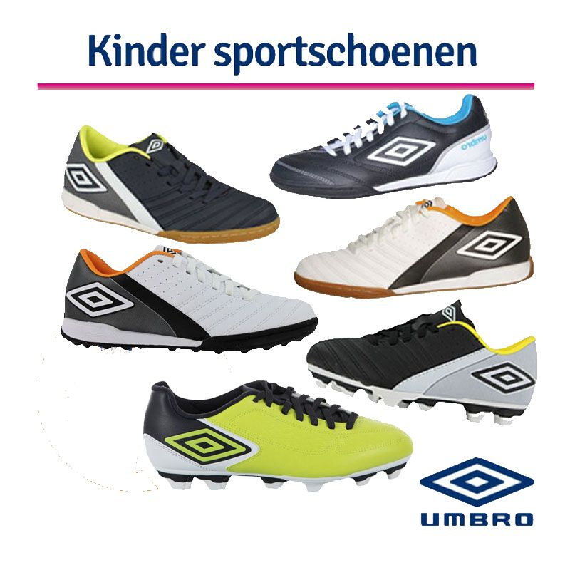 Umbro Voetbalschoenen/Sportschoenen Kids-Umbro Kids Sportschoen Extremis IC-J White/Black/Autumn Glo