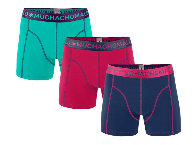 Muchachomalo 3-Pack Men Shorts Solide