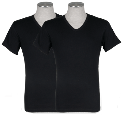 Puma 2-pack V-Neck T-shirt Zwart