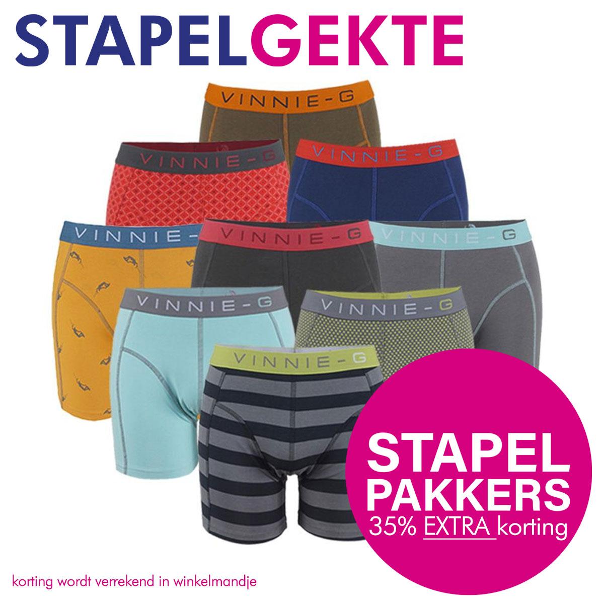 Vinnie-G Boxershort Verrassingspakket 8-pack -S