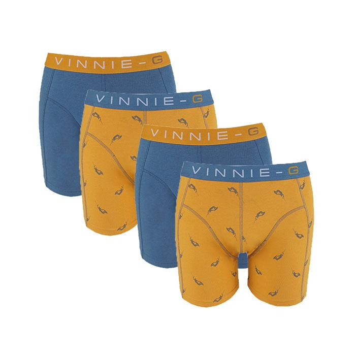 Vinnie-G boxershorts Wakeboard Blue - Print 4-pack-S