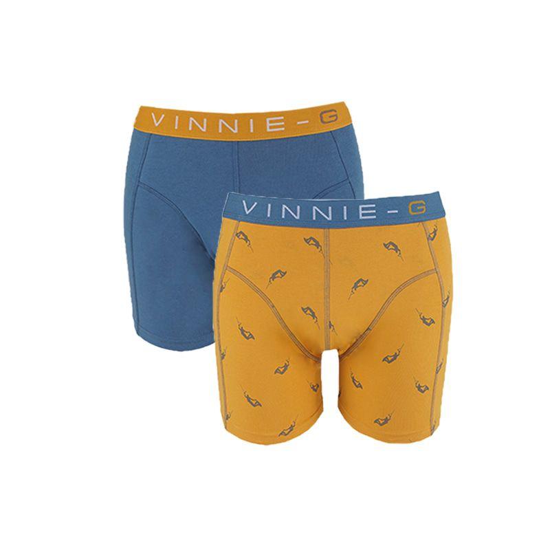 Vinnie-G Boys boxershorts Wakeboard Blue - Print 2-Pack-164/170