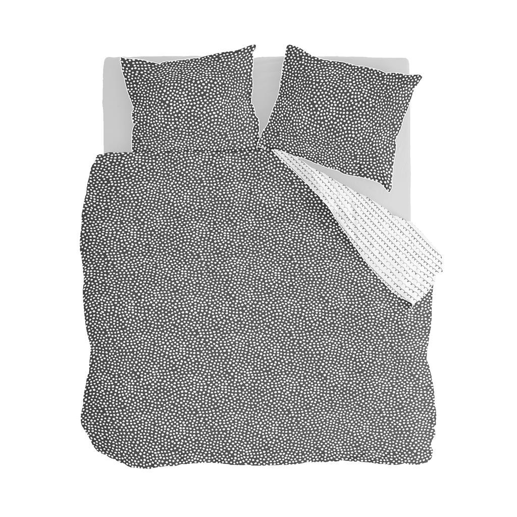 Walra Dekbedovertrek Dots & Doodles Flannel Antraciet-140x220/240