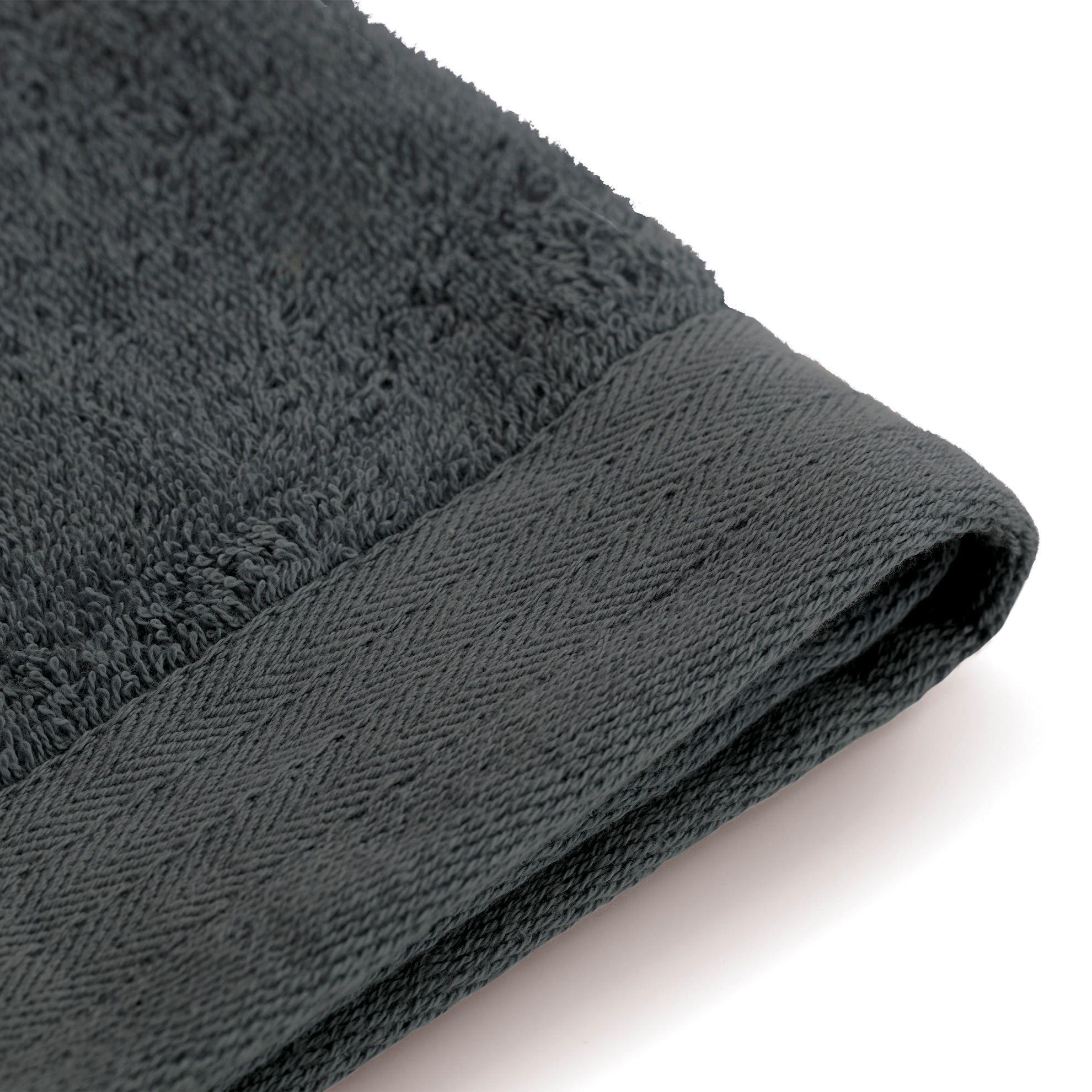 Walra Soft Cotton Gastendoek 30 x 50 cm 550 gram Antracite - 2 stuks