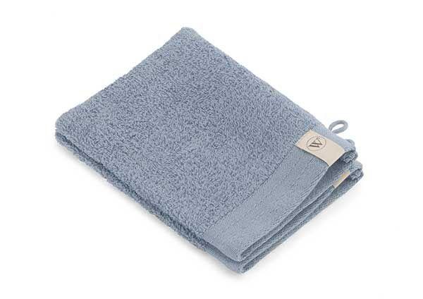 Walra Soft Cotton Washandje 16 x 21 cm 550 gram Blue - 2 stuks