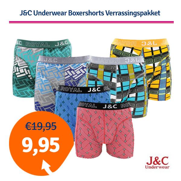 Dagaanbieding J&C Underwear Boxershort Verrassingspakket
