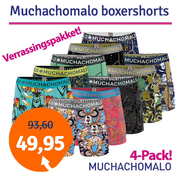 Dagaanbieding Muchachomalo Boxershorts Verrassingspakket 4-pack